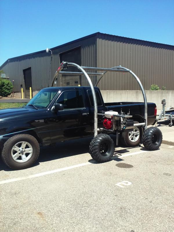 Beach Rover XL over truck