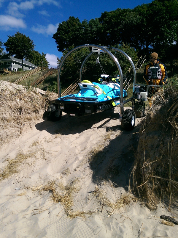Climbing up hill with Beach Rover