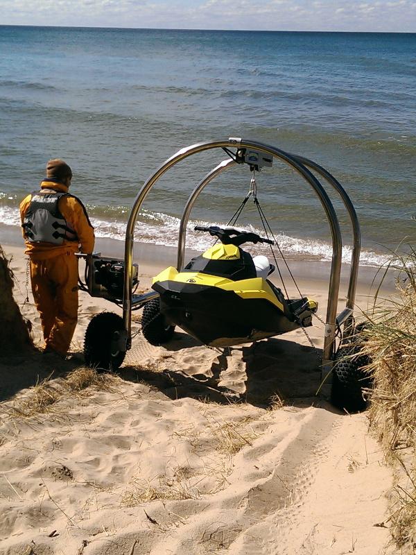 Beach Rover going down hill